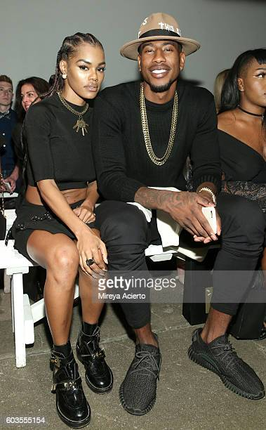 Actress Teyana Taylor and NBA player Iman Shumpert attend the Globe Fashion Week X China Moment fashion show during New York Fashion Week The Shows...