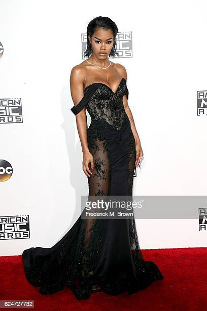 Actress Teyana Taylor attends the 2016 American Music Awards at Microsoft Theater on November 20, 2016 in Los Angeles, California.
