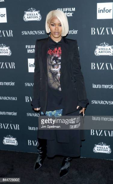 Actress Teyana Taylor attends the 2017 Harper's Bazaar Icons at The Plaza Hotel on September 8 2017 in New York City