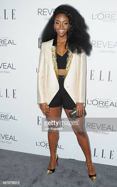 Actress Teyonah Parris arrives at the 21st Annual ELLE Women In Hollywood Awards at Four Seasons Hotel Los Angeles at Beverly Hills on October 20...