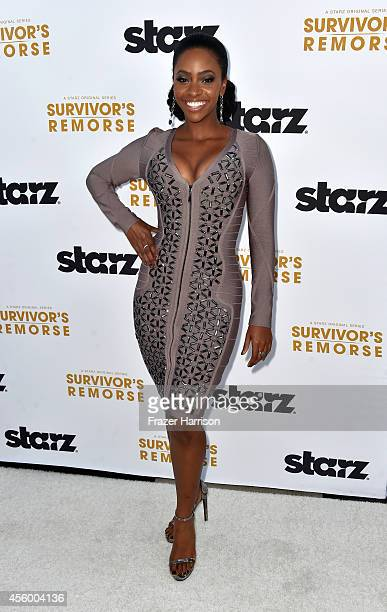 Actress Teyonah Parris arrives at the Premiere Of Starz 'Survivor's Remorse' at Wallis Annenberg Center for the Performing Arts on September 23 2014...