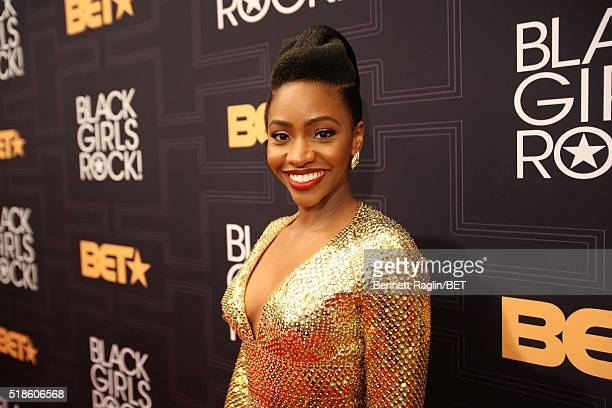 Actress Teyonah Parris attends Black Girls Rock 2016 on April 1 2016 in New York City
