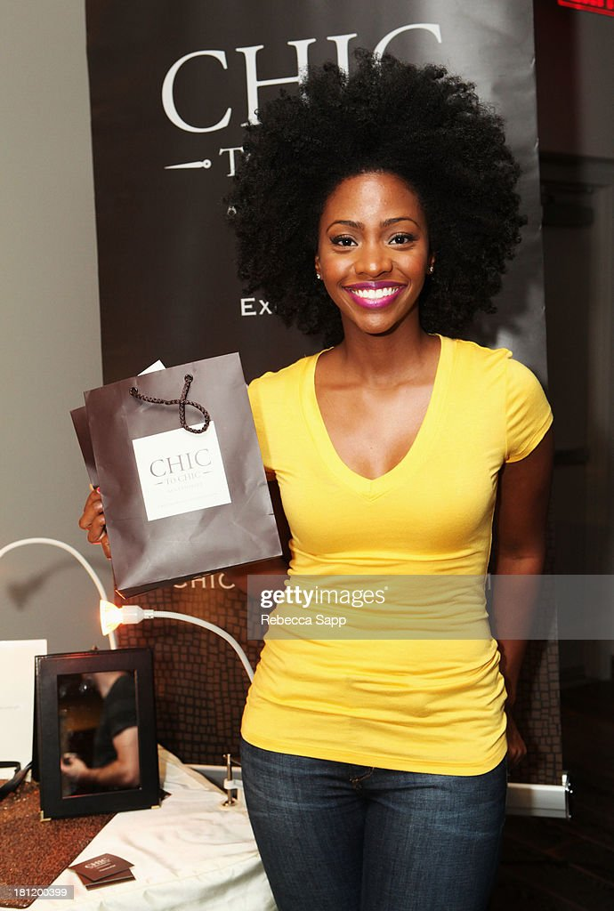 Actress Teyonah Parris attends Kari Feinstein's Pre-Emmy Style Lounge at the Andaz Hotel on September 19, 2013 in Los Angeles, California.