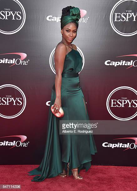 Actress Teyonah Parris attends the 2016 ESPYS at Microsoft Theater on July 13 2016 in Los Angeles California