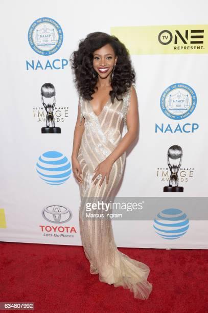 Actress Teyonah Parris attends the 48th NAACP Image Awards at Pasadena Civic Auditorium on February 11 2017 in Pasadena California