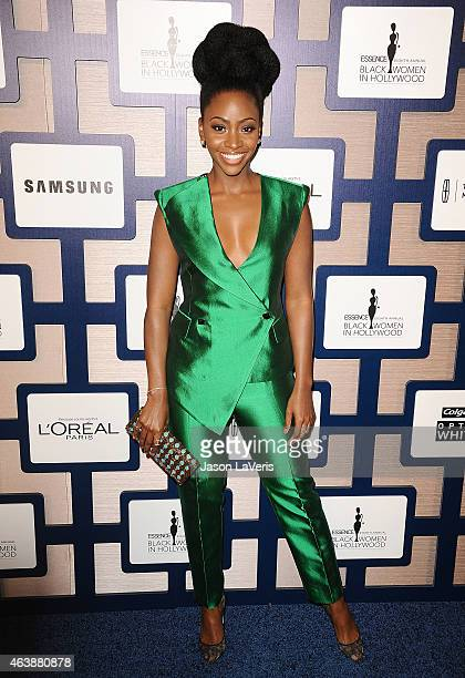 Actress Teyonah Parris attends the 8th annual ESSENCE Black Women In Hollywood luncheon at the Beverly Wilshire Four Seasons Hotel on February 19...
