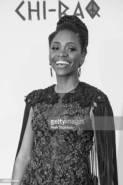 Actress Teyonah Parris attends the 'CHIRAQ' New York Premiere at the Ziegfeld Theater on December 1 2015 in New York City