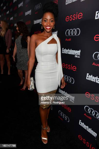 Actress Teyonah Parris attends the Entertainment Weekly PreSAG Party hosted by Essie and Audi held at Chateau Marmont on January 26 2013 in Los...