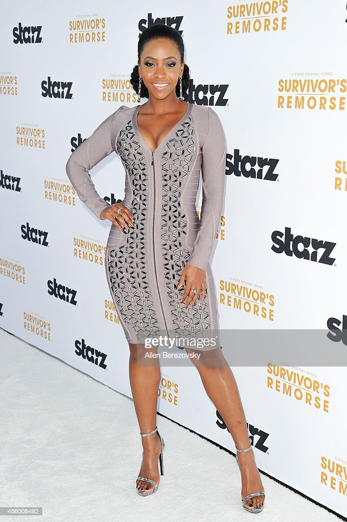 Actress Teyonah Parris attends the Los Angeles premiere of STARZ new series 'Survivor's Remorse' at Wallis Annenberg Center for the Performing Arts on September 23, 2014 in Beverly Hills, California.