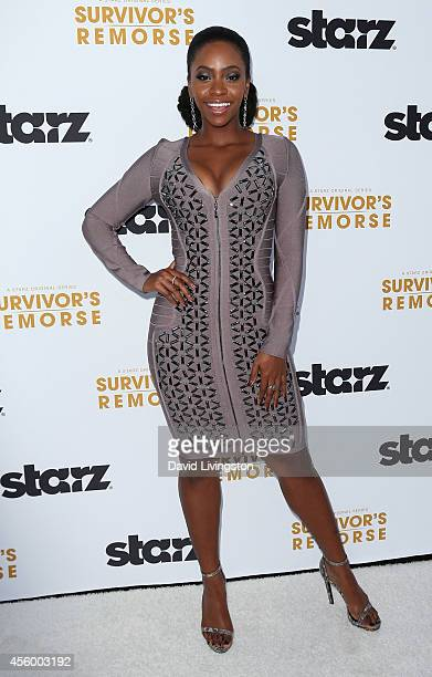 Actress Teyonah Parris attends the premiere of Starz 'Survivor's Remorse' at the Wallis Annenberg Center for the Performing Arts on September 23 2014...