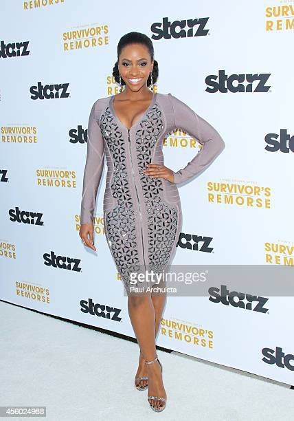 Actress Teyonah Parris attends the STARZ new series 'Survivor's Remorse' premiere at the Wallis Annenberg Center for the Performing Arts on September...
