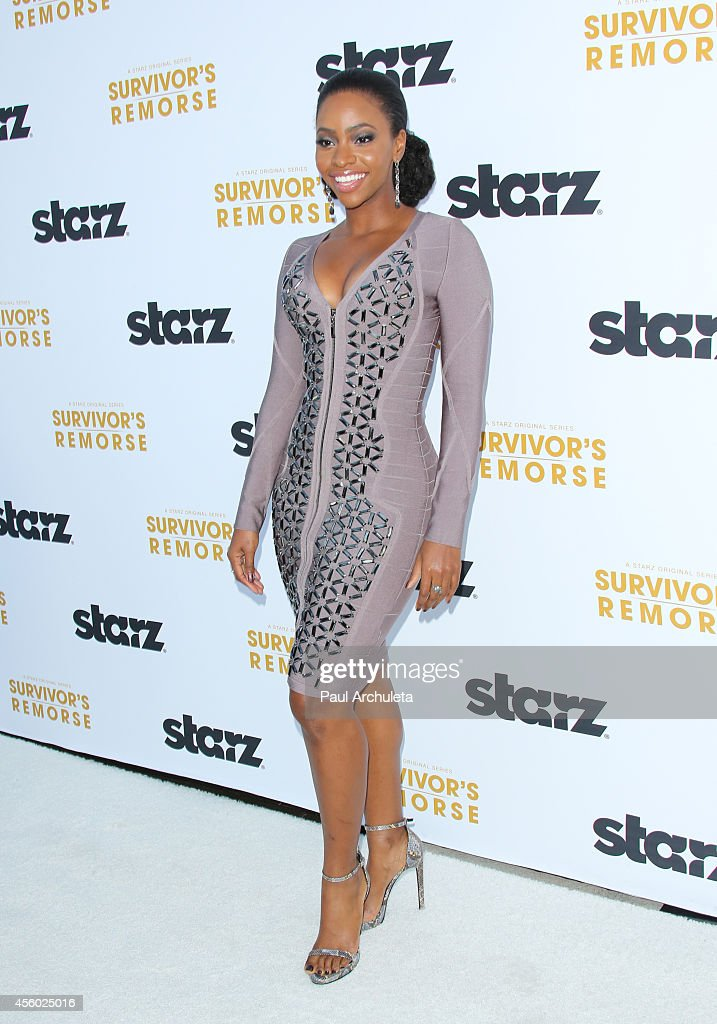 Actress Teyonah Parris attends the STARZ new series 'Survivor's Remorse' premiere at the Wallis Annenberg Center for the Performing Arts on September 23, 2014 in Beverly Hills, California.