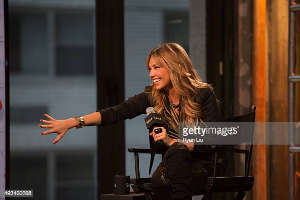 Actress Thalia speaks onstage at the AOL BUILD Presents: Thalia at AOL Studios In New York on October 20, 2015 in New York City.