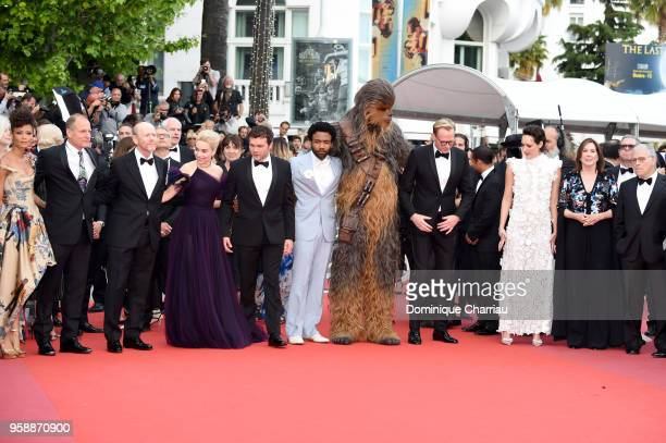 Actress Thandie Newton actor Woody Harrelson director Ron Howard actress Emilia Clarke actor Alden Ehrenreich actor Donald Glover Chewbacca actor...