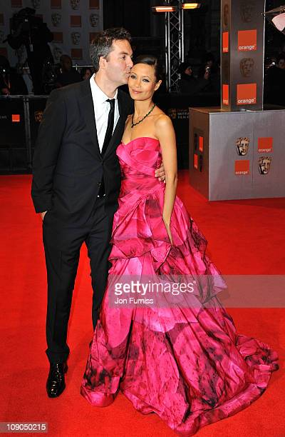 Actress Thandie Newton and Ol Parker attend the 2011 Orange British Academy Film Awards at The Royal Opera House on February 13 2011 in London England
