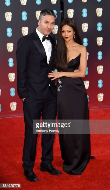 Actress Thandie Newton and Ol Parker attend the 70th EE British Academy Film Awards at Royal Albert Hall on February 12 2017 in London England