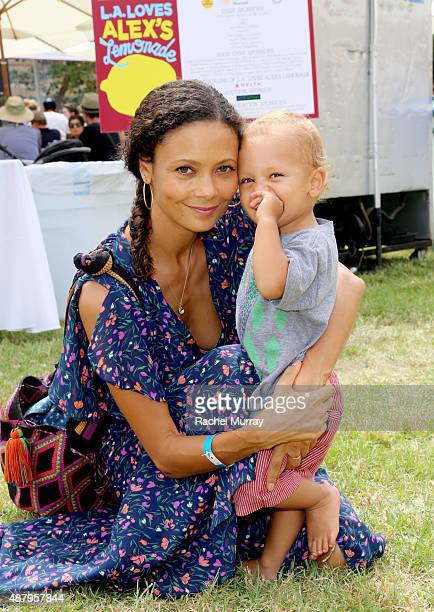 Actress Thandie Newton and son Booker Jombe attend the the 6th Annual LA Loves Alex's Lemonade on September 12 2015 in Los Angeles California