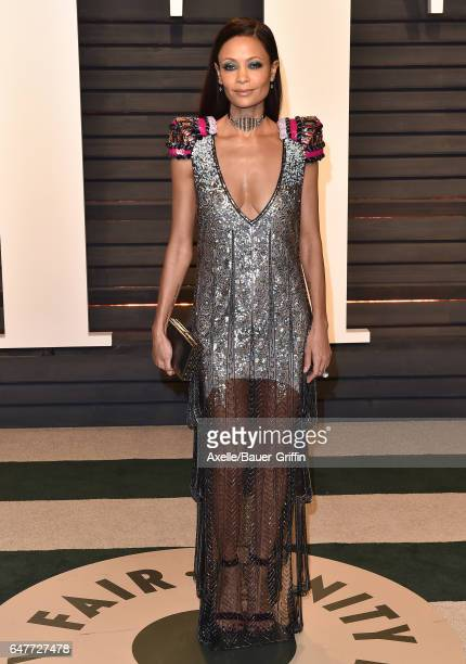 Actress Thandie Newton arrives at the 2017 Vanity Fair Oscar Party Hosted By Graydon Carter at Wallis Annenberg Center for the Performing Arts on...