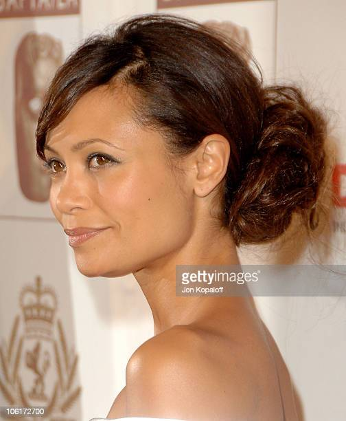 Actress Thandie Newton arrives at the Annual BAFTA/LA Cunard Britannia Awards at the Hyatt Regency Century Plaza Hotel on November 1 2007 in Century...