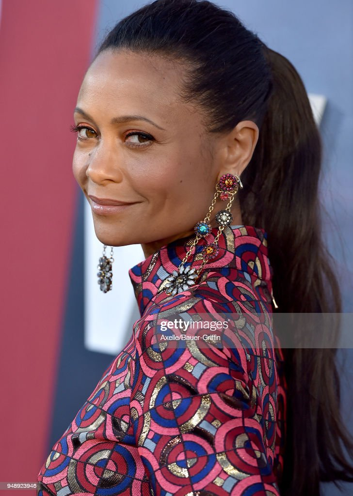 Actress Thandie Newton arrives at the Los Angeles premiere of HBO's 'Westworld' season 2 at The Cinerama Dome on April 16, 2018 in Los Angeles, California.