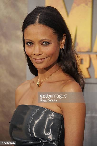 Actress Thandie Newton arrives at the Los Angeles premiere of Mad Max Fury Road at TCL Chinese Theatre IMAX on May 7 2015 in Hollywood California