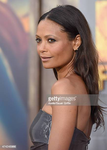 Actress Thandie Newton arrives at the Los Angeles premiere of 'Mad Max: Fury Road' at TCL Chinese Theatre IMAX on May 7, 2015 in Hollywood,...