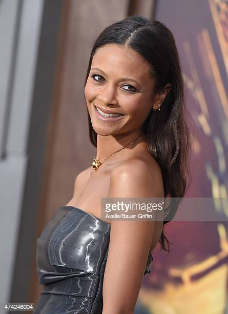 Actress Thandie Newton arrives at the Los Angeles premiere of 'Mad Max Fury Road' at TCL Chinese Theatre IMAX on May 7 2015 in Hollywood California