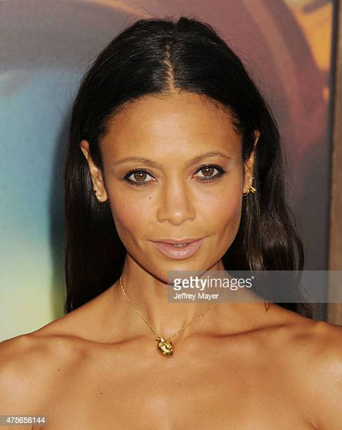 Actress Thandie Newton arrives at the Mad Max Fury Road Los Angeles Premiere at TCL Chinese Theatre IMAX on May 7 2015 in Hollywood California