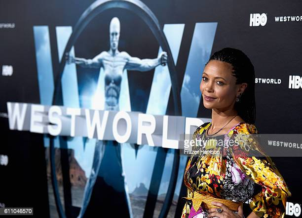Actress Thandie Newton arrives at the Premiere of HBO's 'Westworld' Arrivals at TCL Chinese Theatre on September 28 2016 in Hollywood California