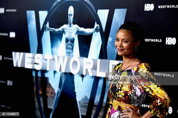 Actress Thandie Newton arrives at the Premiere of HBO's Westworld Arrivals at TCL Chinese Theatre on September 28 2016 in Hollywood California