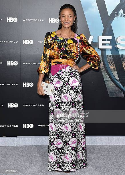 Actress Thandie Newton arrives at the premiere of HBO's 'Westworld' at TCL Chinese Theatre on September 28, 2016 in Hollywood, California.