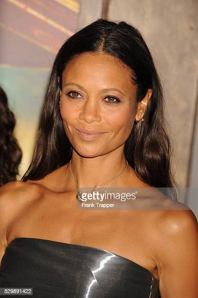 """Actress Thandie Newton arrives at the premiere of """"Mad Max: Fury Road"""" held at the TCL Chinese Theater in Hollywood."""