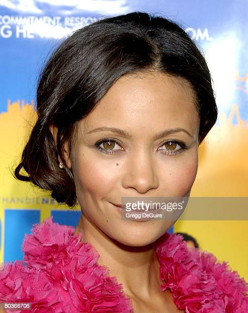 Actress Thandie Newton arrives at the Run Fat Boy Run premiere on March 24 2008 at Arclight Cinemas in Los Angeles California