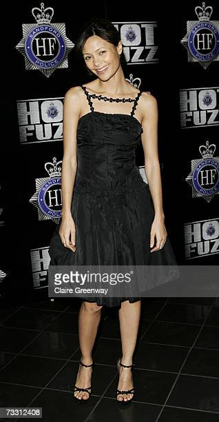 Actress Thandie Newton arrives at the world premiere of Hot Fuzz at Vue Cinema Leicester Square on February 13 2007 in London England