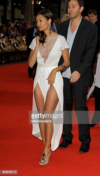 Actress Thandie Newton arrives at the World Premiere of 'RocknRolla' at the Odeon West End on September 1 2008 in London United Kingdom