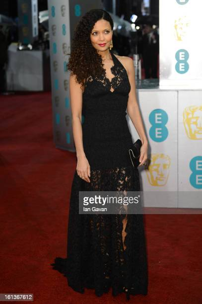 Actress Thandie Newton attend the EE British Academy Film Awards at The Royal Opera House on February 10 2013 in London England