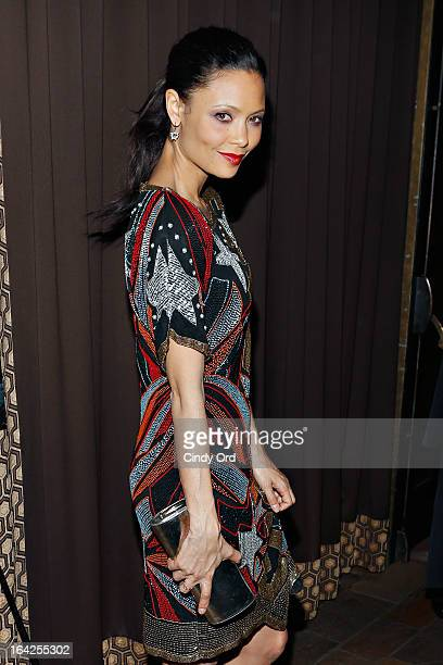 Actress Thandie Newton attends DirectTV's Rogue Series New York Premiere at Tribeca Grand Screening Room on March 21 2013 in New York City