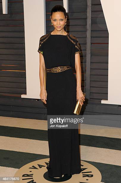 Actress Thandie Newton attends the 2015 Vanity Fair Oscar Party hosted by Graydon Carter at Wallis Annenberg Center for the Performing Arts on...