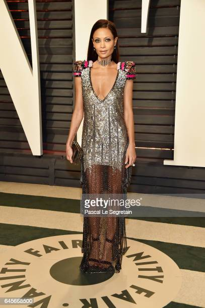 Actress Thandie Newton attends the 2017 Vanity Fair Oscar Party hosted by Graydon Carter at Wallis Annenberg Center for the Performing Arts on...