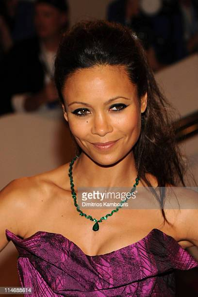 Actress Thandie Newton attends the Costume Institute Gala Benefit to celebrate the opening of the 'American Woman Fashioning a National Identity'...