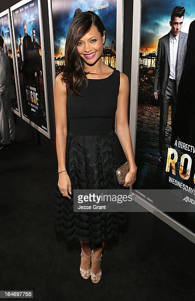 Actress Thandie Newton attends the Los Angeles Premiere of Rogue at ArcLight Cinemas on March 26 2013 in Hollywood California