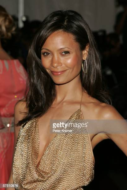 Actress Thandie Newton attends the Metropolitan Museum of Art Costume Institute Benefit Gala Anglomania at the Metropolitan Museum of Art May 1 2006...