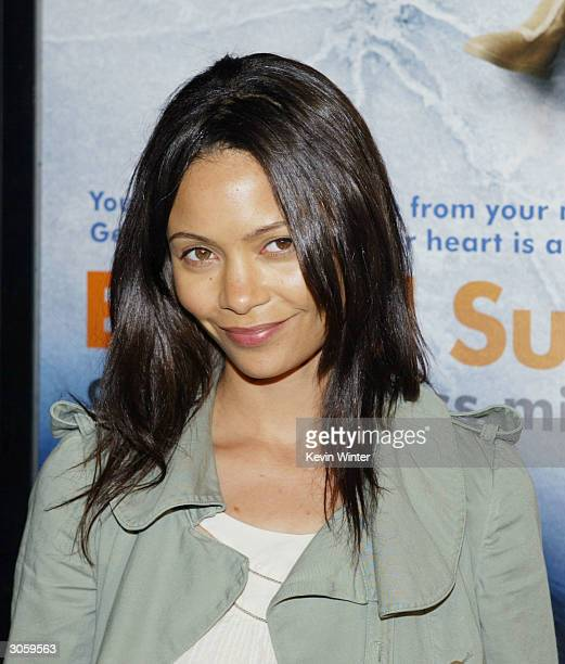 Actress Thandie Newton attends the movie premiere of Eternal Sunshine of the Spotless Mind on March 9 2004 at the Samuel Goldwyn Theater at the...