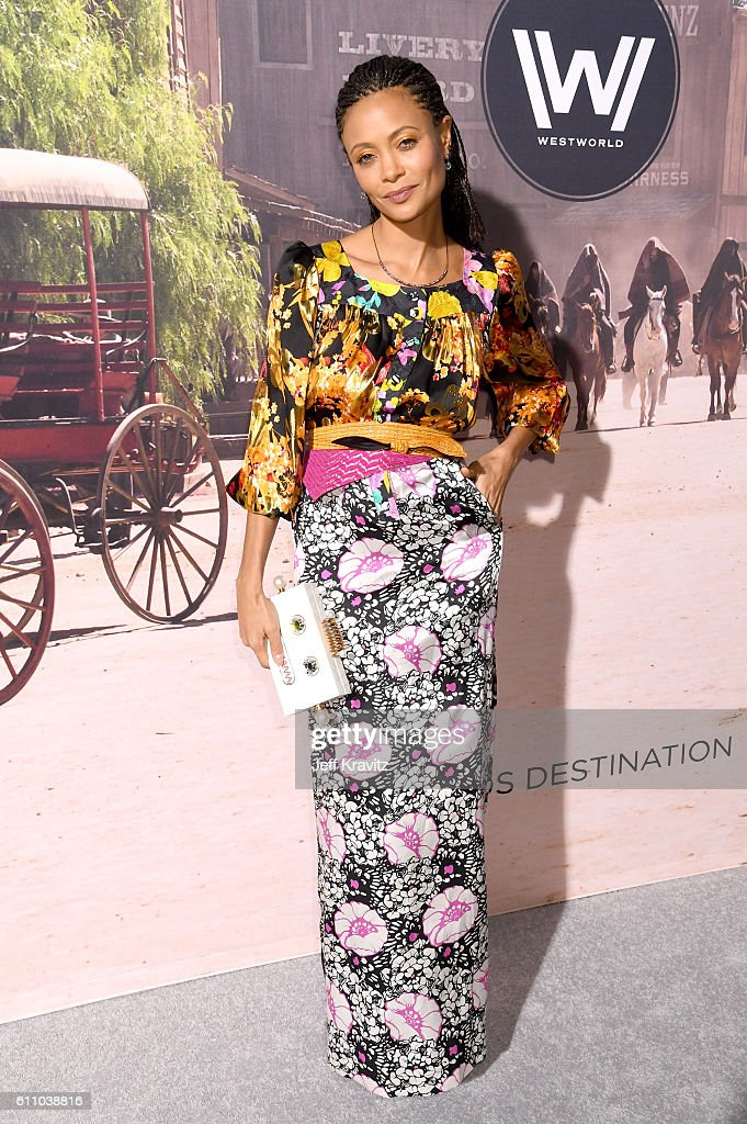 Actress Thandie Newton attends the premiere of HBO's 'Westworld' at TCL Chinese Theatre on September 28, 2016 in Hollywood, California.