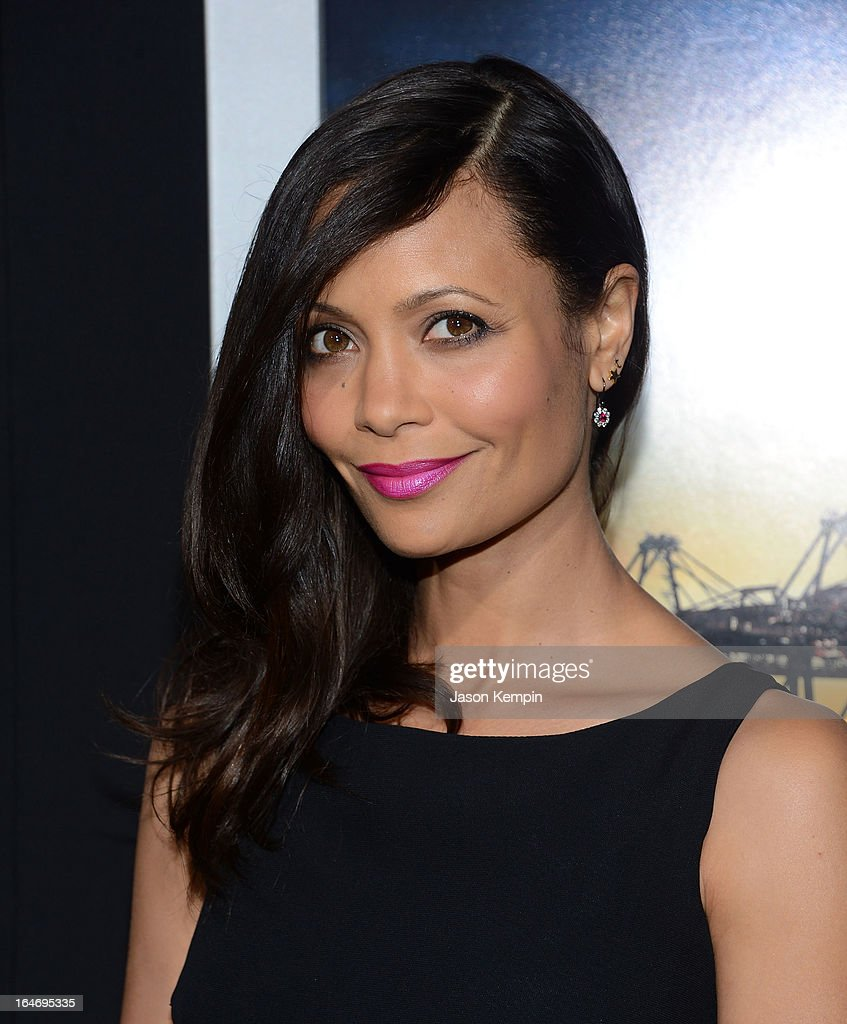 Actress Thandie Newton attends the premiere of 'Rogue' at ArcLight Cinemas on March 26, 2013 in Hollywood, California.