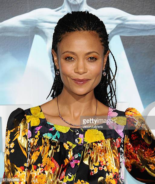 Actress Thandie Newton attends the premiere of Westworld at TCL Chinese Theatre on September 28 2016 in Hollywood California