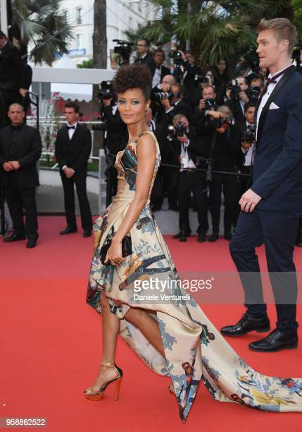 Actress Thandie Newton attends the screening of 'Solo A Star Wars Story' during the 71st annual Cannes Film Festival at Palais des Festivals on May...