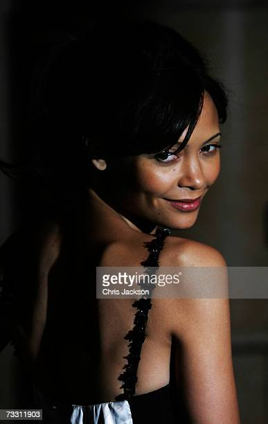 Actress Thandie Newton attends the World Premiere of Hot Fuzz held at the Vue West End on February 13 2007 in London England