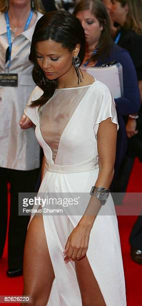 Actress Thandie Newton attends the world premiere of RocknRolla at Odeon West End on September 1 2008 in London England