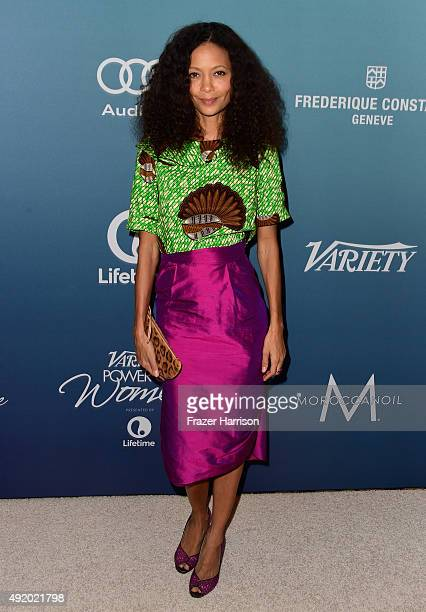 Actress Thandie Newton attends Variety's Power Of Women Luncheon at the Beverly Wilshire Four Seasons Hotel on October 9 2015 in Beverly Hills...